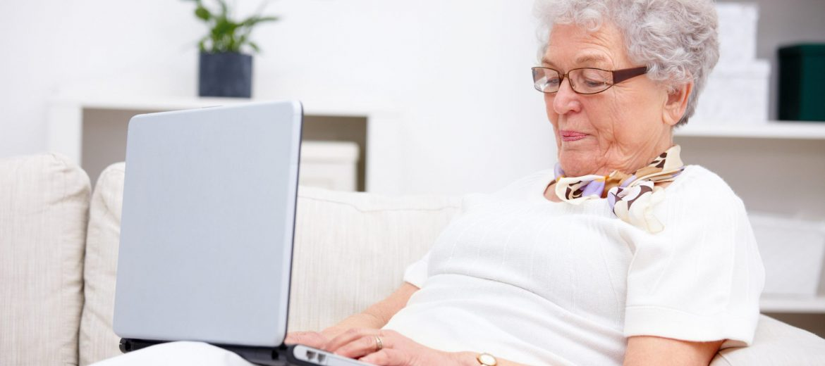 Grandma - Using a laptop at home